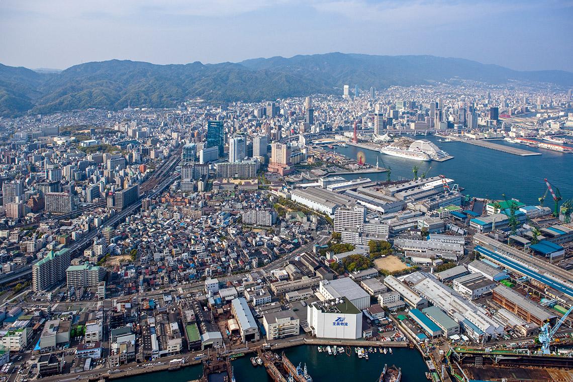 神戸市街空撮